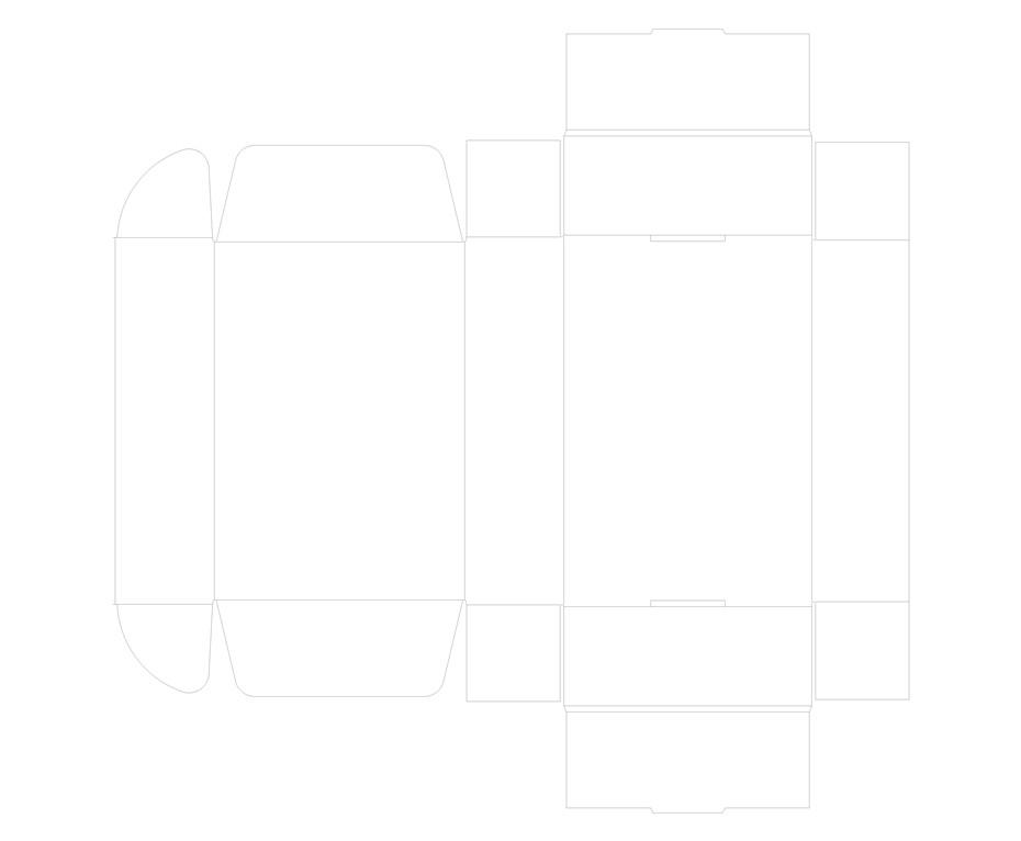 飞机盒(手折)通用刀版线-帮橙包装