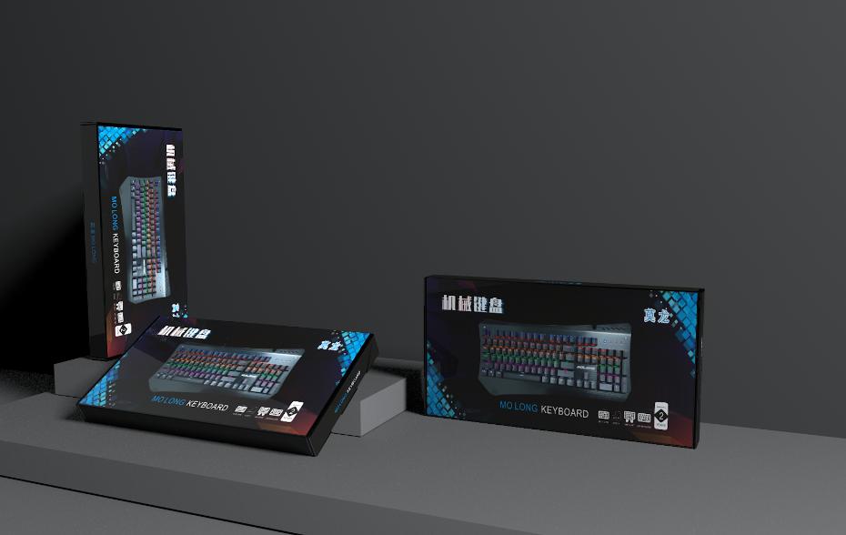 机械键盘瓦楞飞机盒-电子产品包装