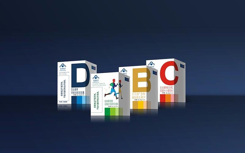 美健禧百合康系列卡盒-保健品包装定制