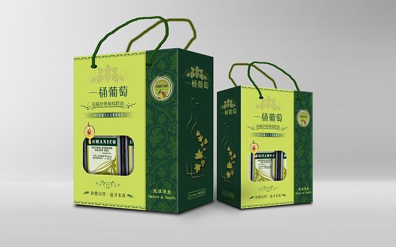 930 镂空手提包装卡纸盒-食品包装定制