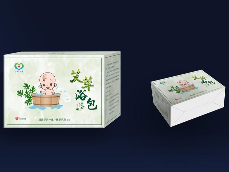 艾草浴包卡盒-保健品包装定制