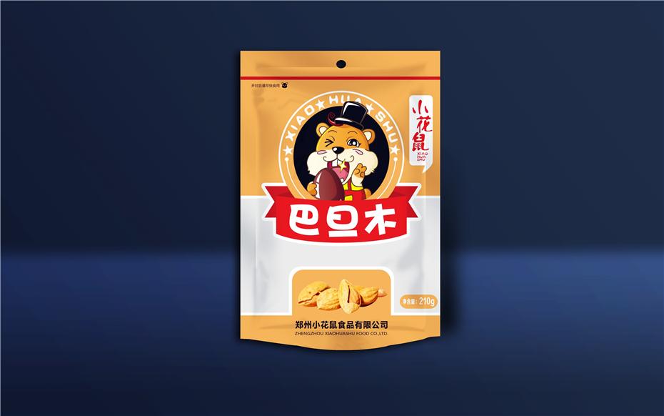 小花鼠干果袋-食品包装定制