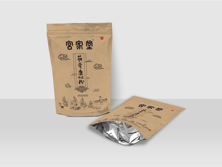 宫家堂筋骨康保健粉自立袋-保健品包装定制