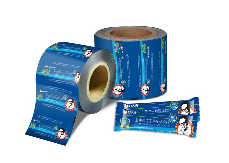 好大夫益生菌固体饮料卷材-保健品包装定制