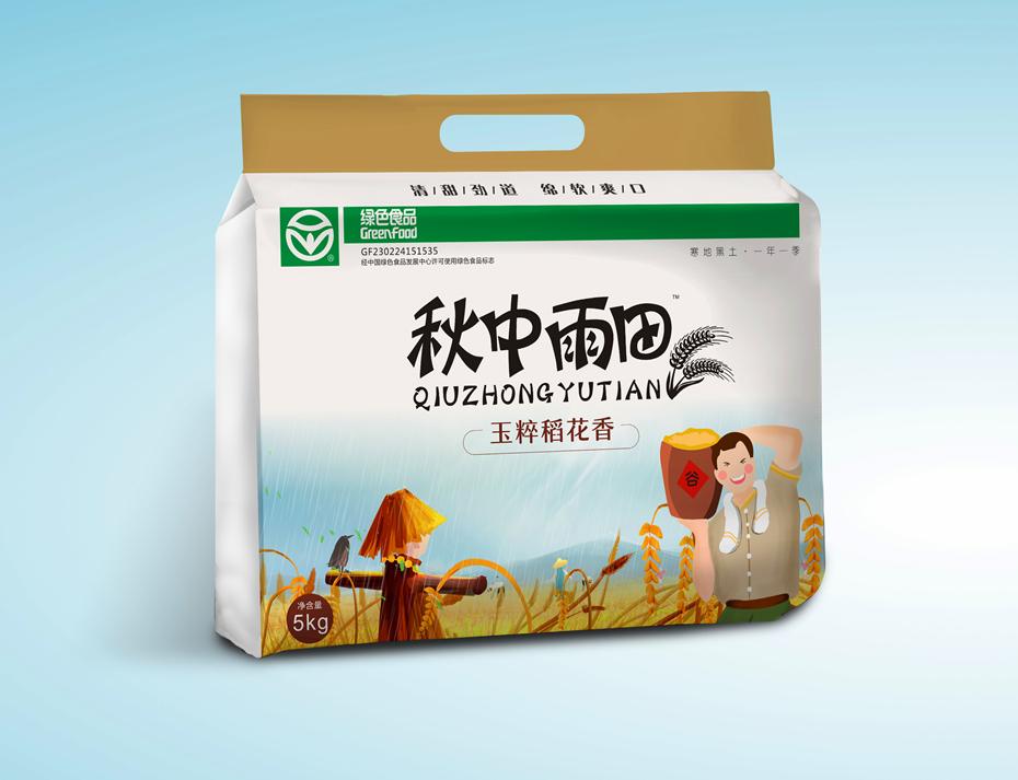 玉粹稻花香大米镀铝内袋-食品包装定制
