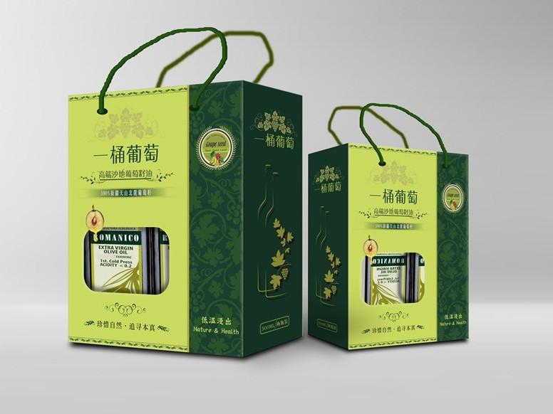 一桶葡萄高端沙地葡萄油包装卡盒定制-食品包装定制