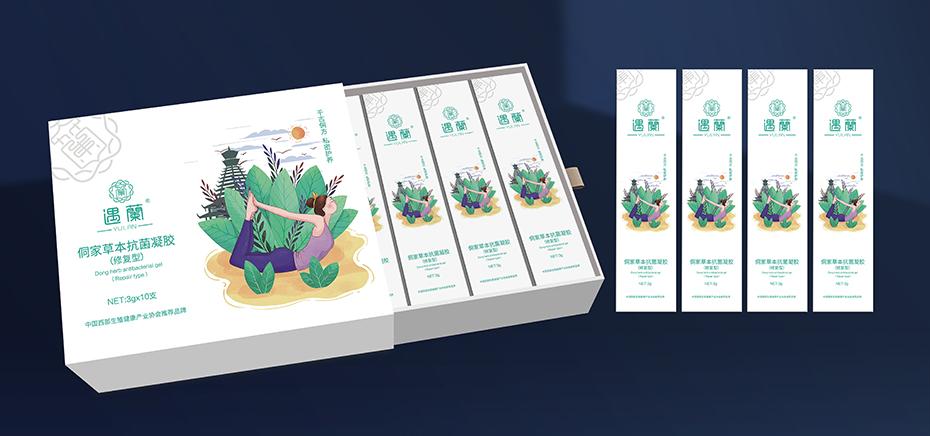 遇蘭侗家草本抗菌凝胶包装盒