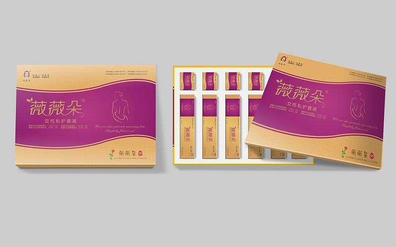 薇薇朵上下盖精品礼盒-保健品包装定制