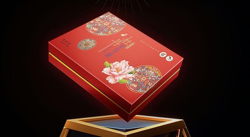 牡丹武皇牡丹全花茶-茶叶礼品盒